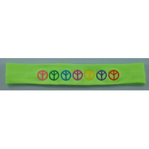 Headband Peace Embroidered