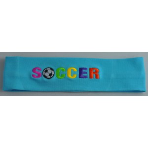 Headband Soccer Embroidered