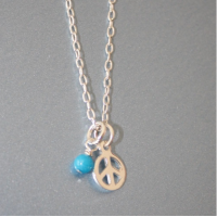 Small Peace Sterling Silver Necklace