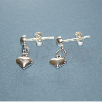 Dangling Hearts Sterling Silver Earrings