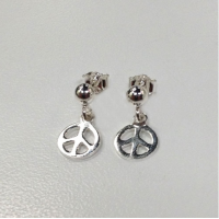 Small Peace Sterling Silver Earrings