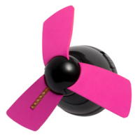 Light Up - Cool Down Locker Ceiling Fan Fuchsia/Black