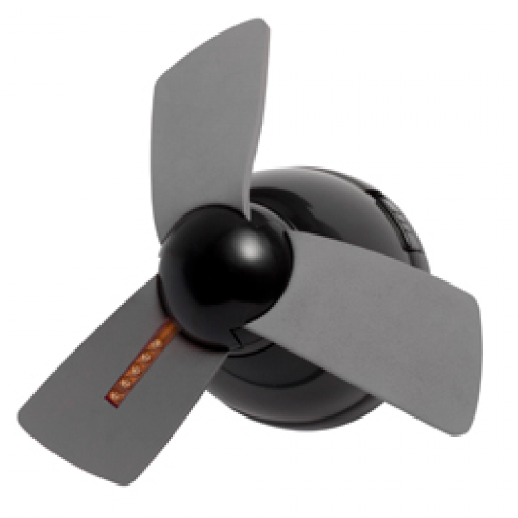 Magnetic Ceiling Fan : Light up cool down locker ceiling fan grey black
