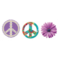 Peace & Flower Magnets - each sold separately