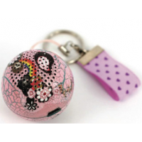 ChicBoom Keychain Speaker Ball Pink