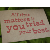 All That Matters is You Tried Your Best