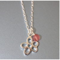 Flower Sterling Silver Necklace