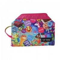 Cosmetic/Toiletry Bag- Pow Print