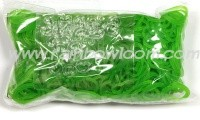 Rainbow Loom Elastic Green Jelly
