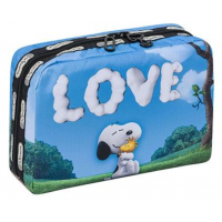 LeSportsac Snoopy Love XL Rectangular Cosmetic