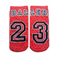 -Printed Socks- Basketball