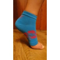 Toeless Socks Blue with Flower