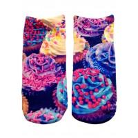-Printed Socks- Cupcake