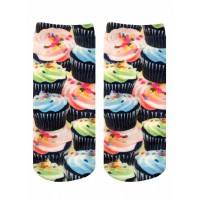 -Printed Socks- Cupcake Craze