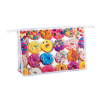 Cosmetic/Toiletry Bag Assorted Donuts Clear