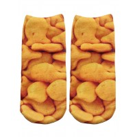 -Printed Socks- Goldfish