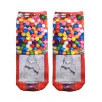 -Printed Socks- Gumball