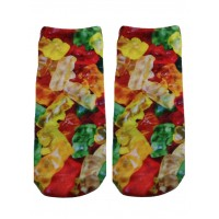 -Printed Socks- Gummy Bear