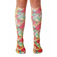 -Printed Knee High Socks- Gummy Bear