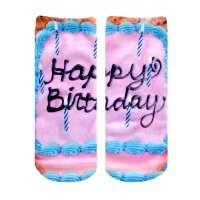 -Printed Socks- Happy Birthday