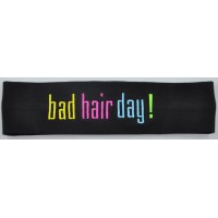Headband Bad Hair Day Embroidered