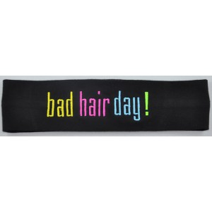 Headband Bad Hair Day Embroidered