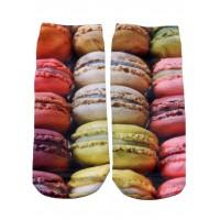 -Printed Socks- Macaroon