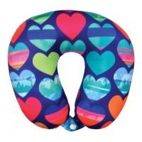 Microbead Travel Neck Pillow- Hearts