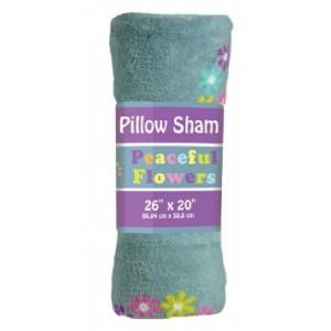 Pillowcase Plush Sham Peace Flowers