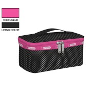 LeSportsac Rectangular Train Case Pin Dot Pink