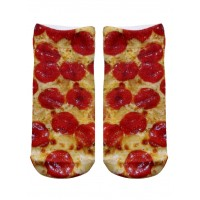 -Printed Socks- Pizza
