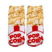 -Printed Socks- Popcorn