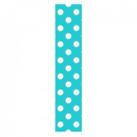Locker/ Room Peel & Stick Wallpaper- Aqua & White Dots