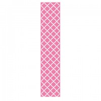 Locker/ Room Peel & Stick Wallpaper- Pink Quatrefoil