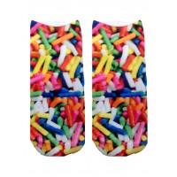 -Printed Socks- Sprinkles