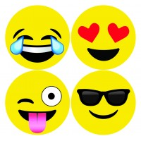 Decals- Xtra Large Emoji -idecoz