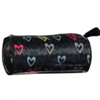 Pencil Case/Cosmetic Barrel Bag Hearts