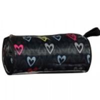 Pencil Case/Cosmetic Barrel Bag Hearts