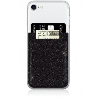 Phone Pocket- Black Glitter