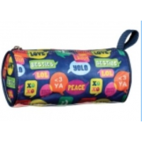 Pencil Case/Cosmetic Barrel Bag Bubble Talk