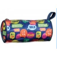 Pencil Case/Cosmetic Barrel Bag Bubble Talk
