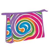 Cosmetic/Toiletry  Bag Candy Swirl