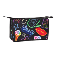 Cosmetic/Toiletry Bag Neoprene- Neon Fun