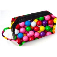Cosmetic/Toiletry Bag- Gumball