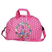 Pink Polka Dot Overnight Bag