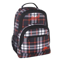 Roots Backpack Plaid Grey/Orange