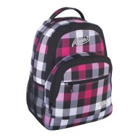 Roots Backpack Plaid Pink