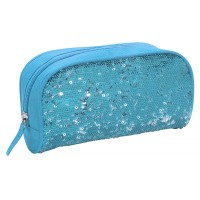 Sequin Pencil Case- Blue