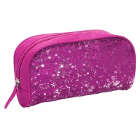 Sequin Pencil Case- Pink