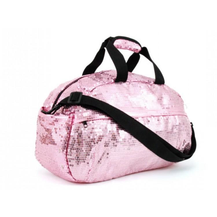 a67dd33b59ce Sequin Duffle Bag- Light Pink